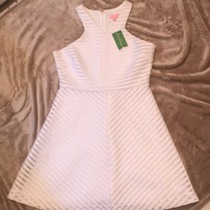 LILLY PULITZER DRESS SIZE L WHITE